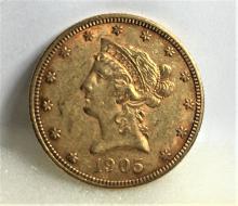 1905 S $10 Gold Liberty Eagle