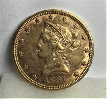 1881 P $10 Gold Liberty Eagle