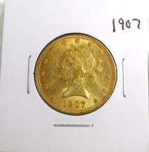 1907 $ 10 Gold Indian