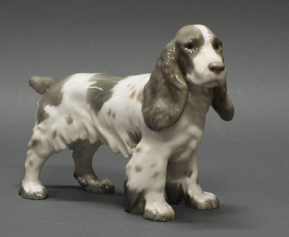 "Porzellanfigur, ""Cocker Spaniel"", Bing & Gröndahl, Modellnummer 2095, polychrom, 15.5 cm hoch."