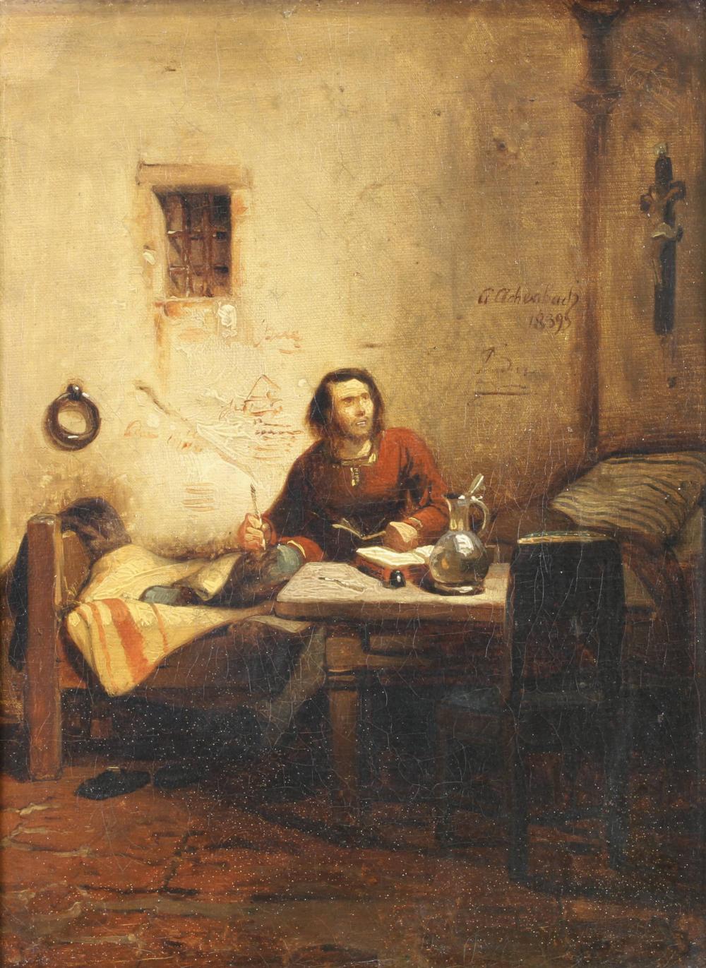 Achenbach, Andreas (Kassel 1815 - 1910 Düsseldorf, Bruder von Oswald A., Ausbildung an der KA Düsseldorf, zahlreiche Studienreisen nach Holland, Belgien, Italien u.a., Mitglied der Künstlervereinigung Malkasten),