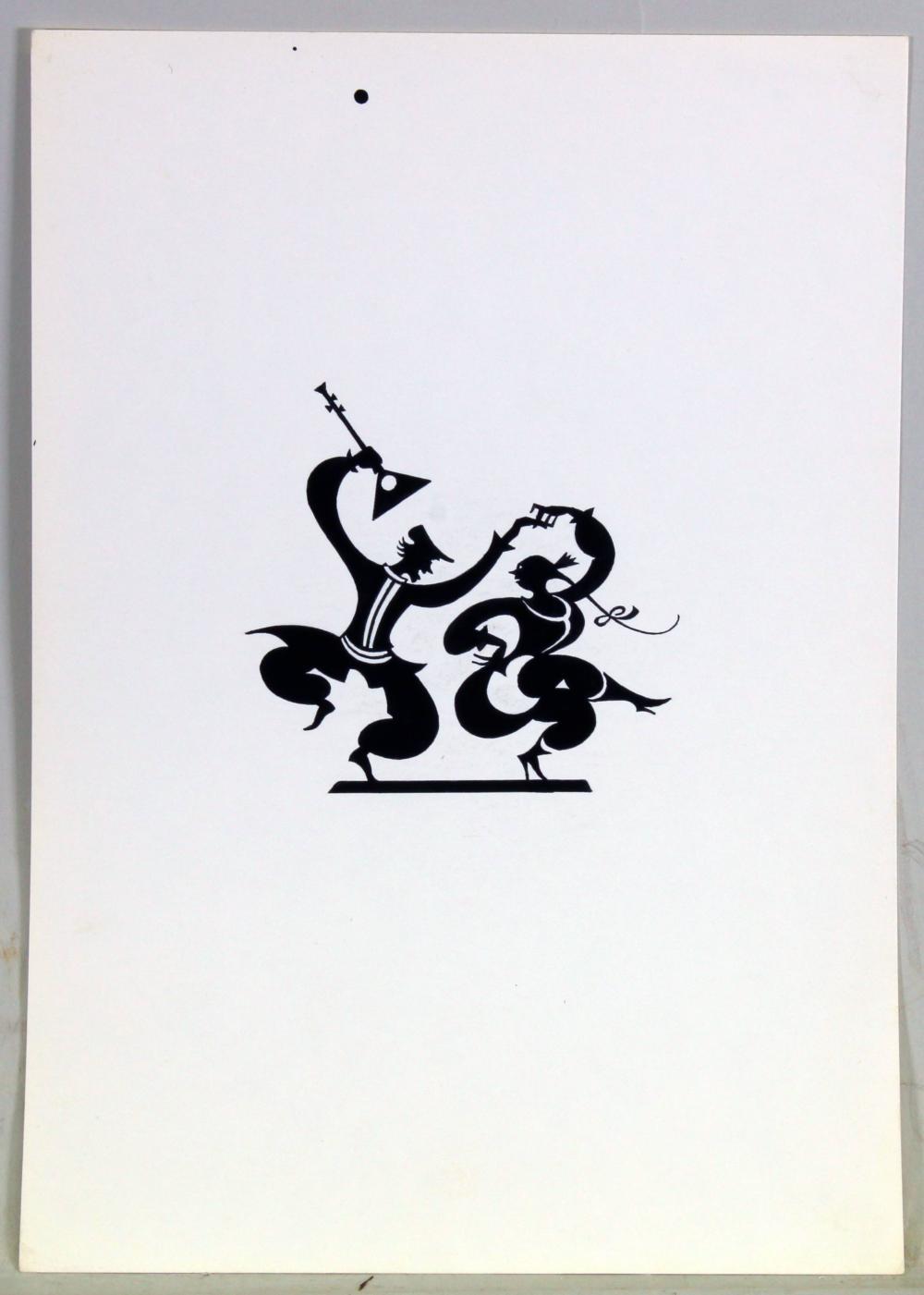 Engert, Ernst Moritz (Yokohama 1892 - 1986 Lich, künstlerische Ausbildung in München, später in Bonn tätiger Sihouettenschneider und Grafiker, dem Kreis der Rheinischen Expressionisten zugehörig),