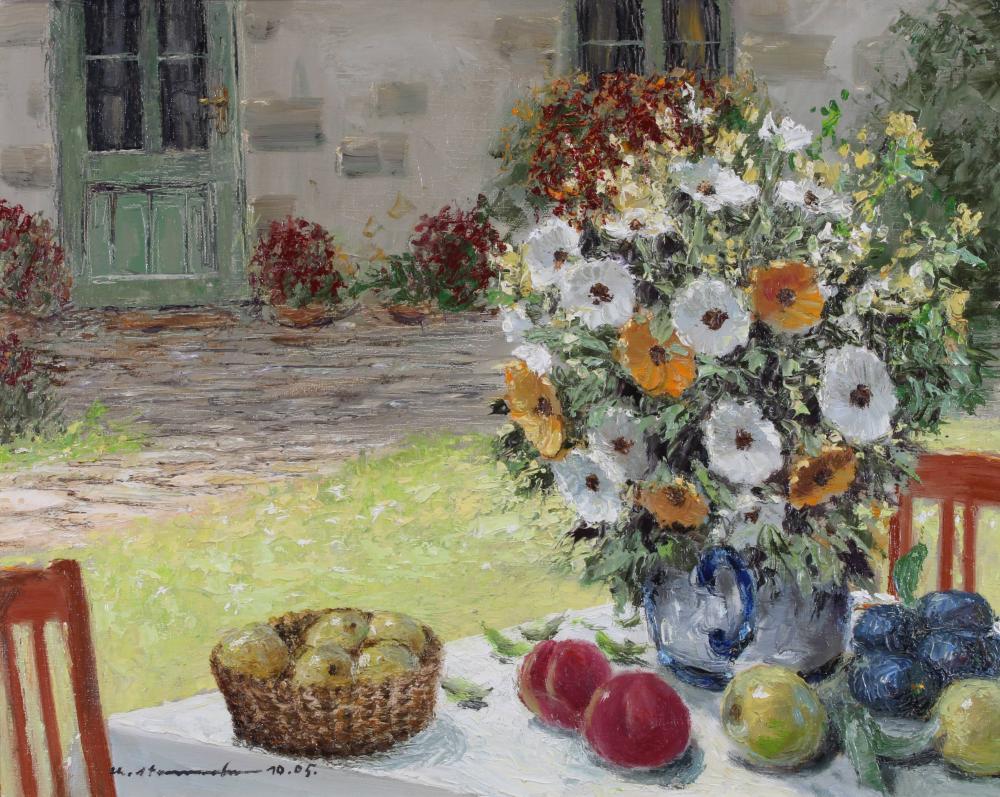 Stemmeler, Christian (1928 Bonn - 2018 ebenda, deutscher Landschafts-, Blumen-, Stillleben- und Stadtvedutenmaler),