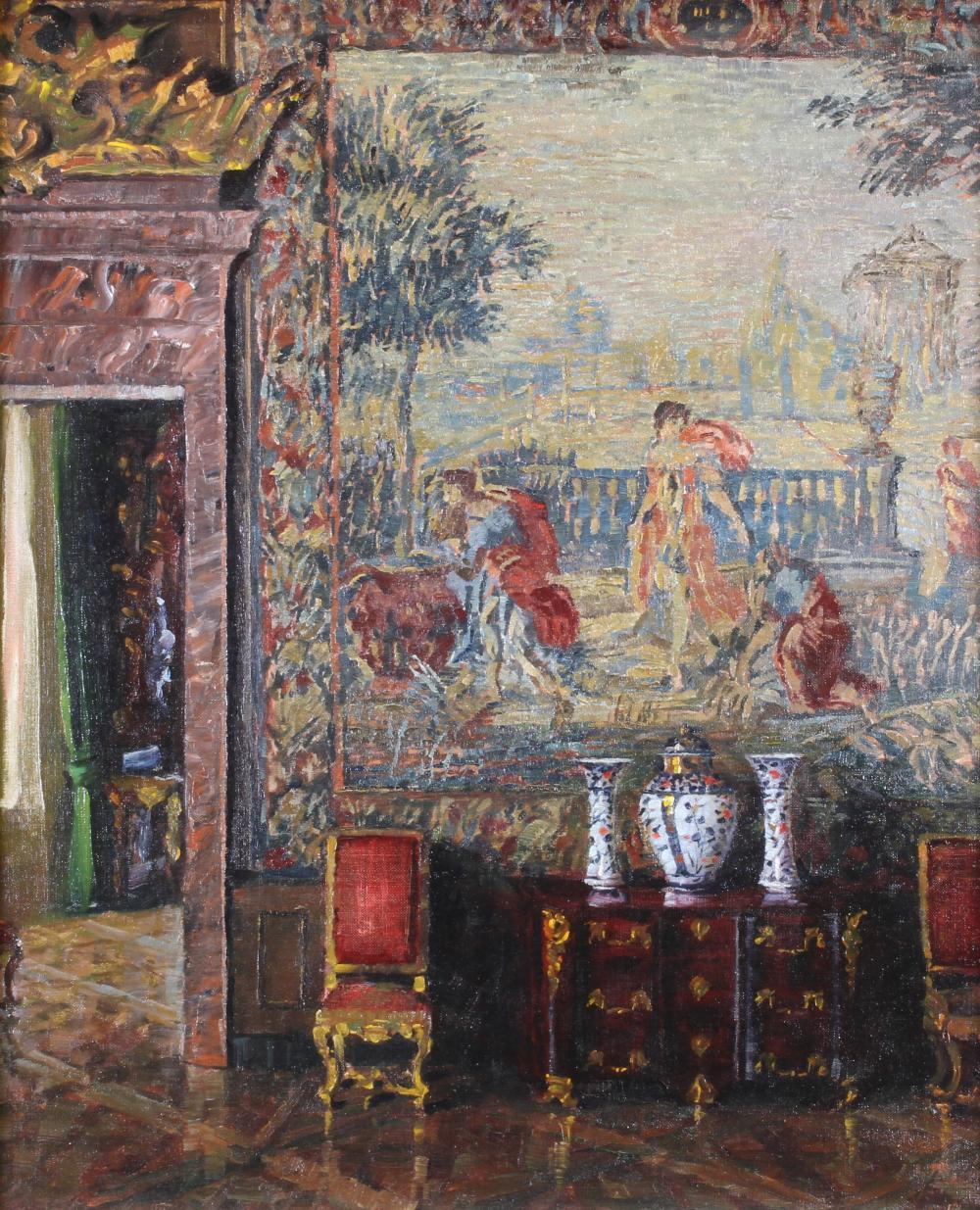 Vetter, Charles (1858 Kahlstädt - 1936 München, Studium an der KA München bei Alois Gabl und Johann Caspar Herterich und Franz von Seitz, Interieur- und Landschaftsmaler),