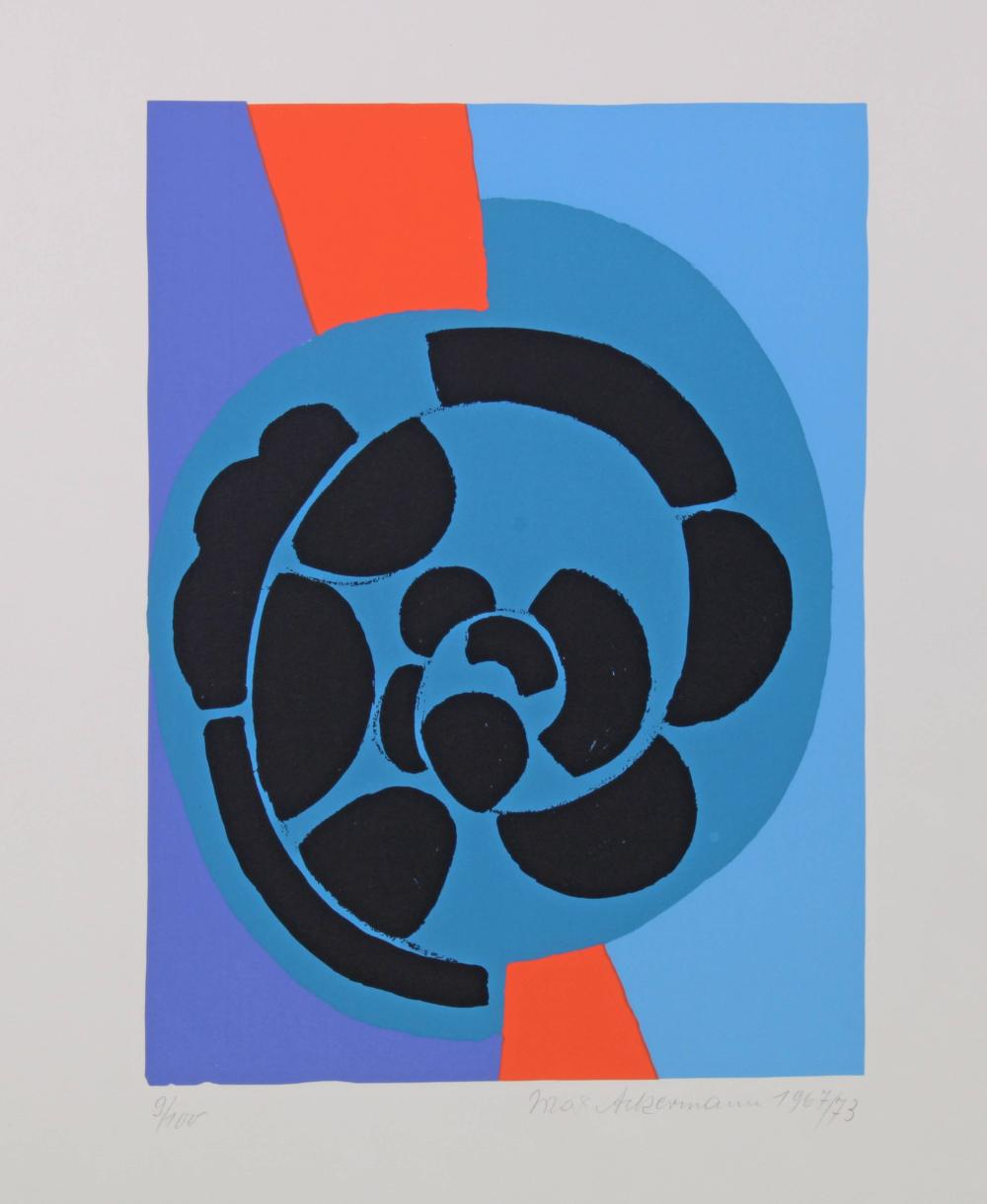 Ackermann, Max (Berlin 1887 - 1975 Stuttgart, Studium an der Kunstschule in Weimar bei Henry van den Velde, an der KA Dresden, München und Stuttgart bei Adolf Hölzel, Maler und Grafiker),