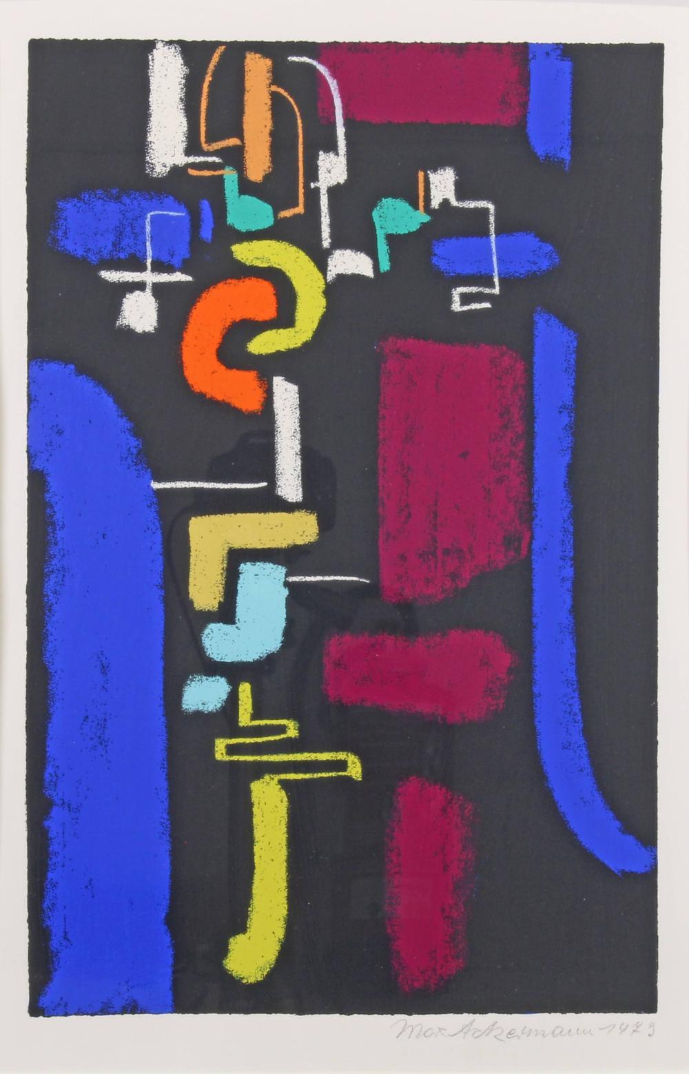 Ackermann, Max (1887 Berlin - 1975 Stuttgart, Studium an der Kunstschule in Weimar bei Henry van den Velde, an der KA Dresden, München und Stuttgart bei Adolf Hölzel, Maler und Grafiker),
