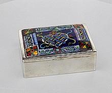 Wiener Werkstatte Silver and Enamel box