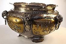 Fine Japanese Silver and Shibayama Bowl
