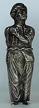 Rare Silver Standing Figure of a Turk Etui