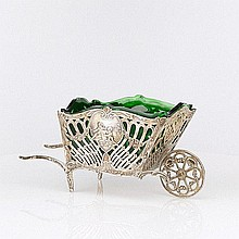 German Silver Wheelbarrow by Christoph Widman