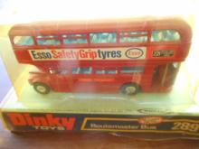 Vintage Dinky Toys #289 Routemaster Bus Esso Diecast Toy in original box