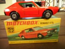 MATCHBOX LESNEY SUPERFAST RENAULT 17 TL w/orig box toy car NO.6 DIECAST