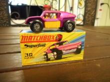 Matchbox Superfast 30 Beach Buggy toy car  with yellow interior w/ Box