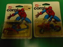 CORGI JUNIOR toy  AMAZING SPIDERMAN 2 CARDS INCL 57 SPIDERBIKE 75 SPIDERCOPTER NMOC