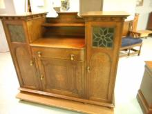 Antique Art Nouveau Buffet Sideboard Bar Tiger Oak by Aritsitic Furniture  Philip Endres Gane College Green Bristol England