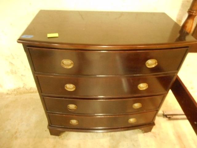 Bombay co 4 drawer mahogany chest signed for Bombay mahogany kitchen cabinets