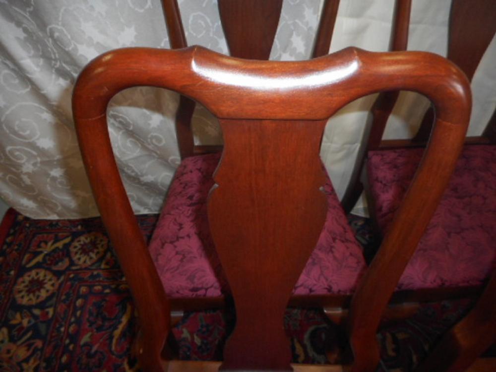 Vintage Solid Cherry Queen Anne Chair