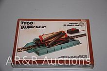 Log Dump Car Set - Train HO Scale