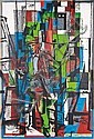 Ian Scott Picasso and Cubist Man oil on canvas, Christian Chapiron, Click for value
