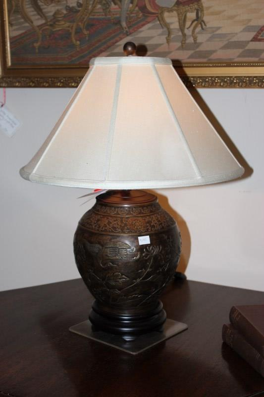 Japanese Bronzed Table Lamp