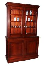 Late Victorian Two Door Bookcase,