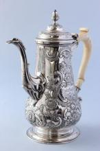 George II Sterling Silver Coffee Pot,
