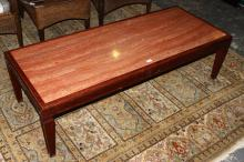 Italian Rouge Marble Coffee Table,