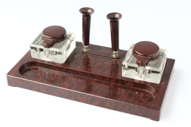 Art Deco Baker Lite Desk Set,