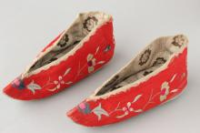 Chinese Silk and Embroidered Shoes,