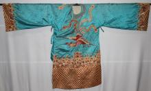 Chinese Embroidered Silk Robe,