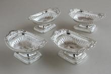 Set of Four George III Sterling Silver Salt