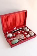 Indian Silver Boudoir Set,