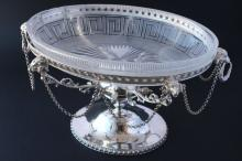 Neo Classical Style Silver Plate Centre Piece,