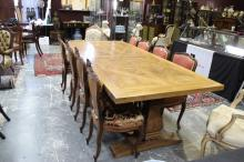Large French Provincial Refectory Table,