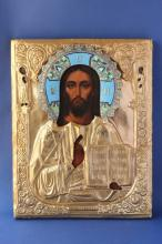 The Russian Icon of Christ Pantocrator,