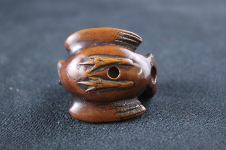 Japanese boxwood netsuke