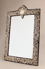 Edwardian Sterling Silver Dressing Table Mirror,