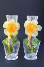 Pair of Victorian Specimen Glass Vases,