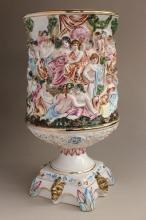 Large Capodimonte Urn Form Vase,