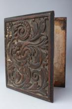 Edwardian Chip Carved Book Cover,