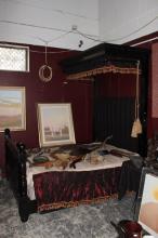 Wonderful Victorian Ebonised Half Tester Bed,
