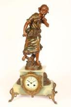 Late 19th Century Bronze Figural Clock,