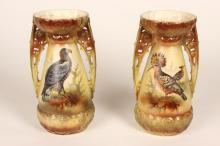Pair of Austrian Twin Handled Vases,
