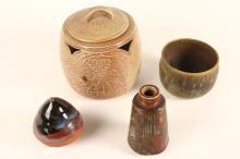 Four Contemporary Studio Pottery Pieces,