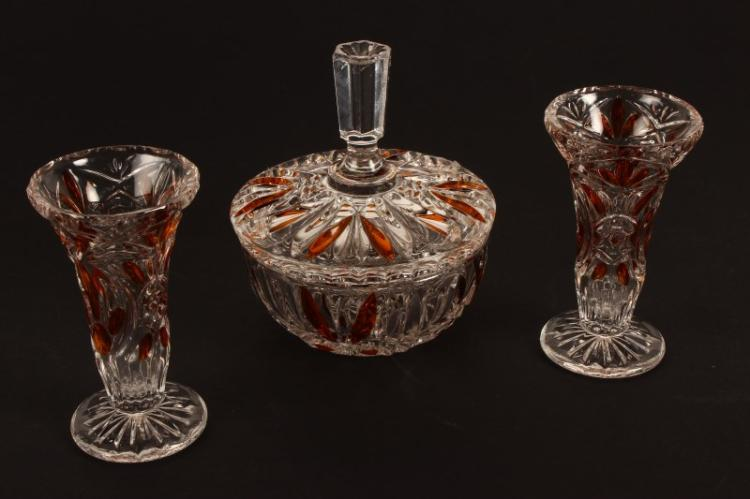 Waterford Glass Vase And Cover