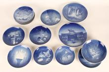 Group of Royal Copenhagen Year Plates,