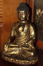 Large Gilt Bronze Buddha,