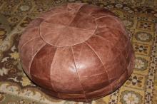 Leather Ottoman,