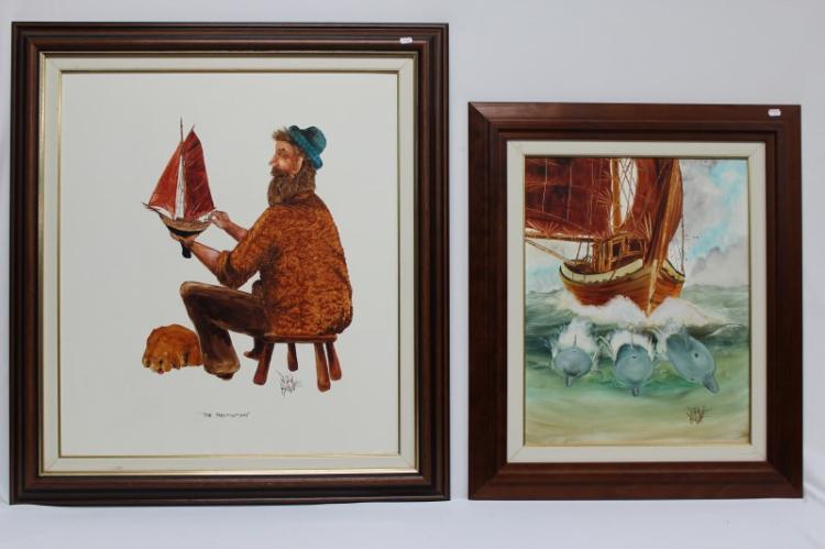 Peter Browne, Two Paintings,