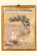 Early Indian School Hindu Double-sided painting